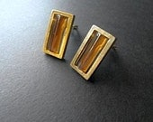 Givenchy Earrings Designer Jewelry Amber Glass 70s Jewelry Sale