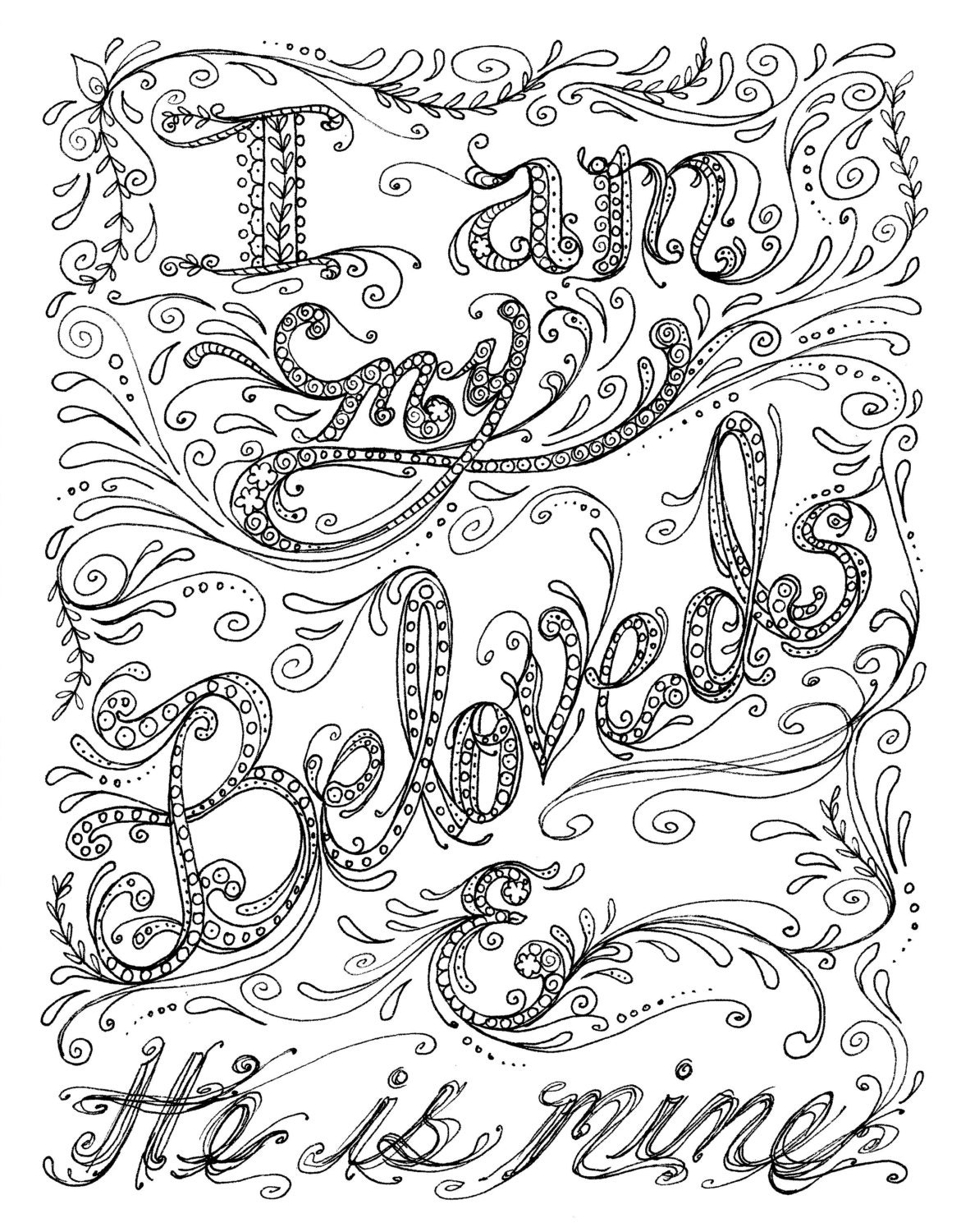 Instant Download Scripture Christian Art to Color