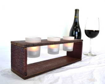"MODERMO - ""Trois"" - Wine Tank Candle Holders - 100% recycled"