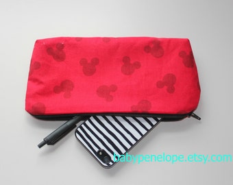 Pencil Case/Cosmetic Bag/ Gadget Case - Mickey Mouse