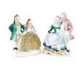 Bisque figurines, Occupied Japan dancing couples