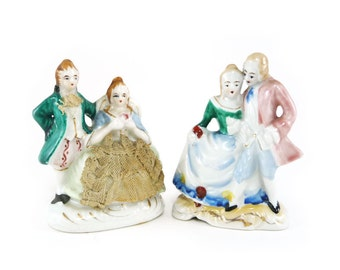Bisque figurines, Occupied Japan dancing couples