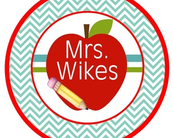 Chevron apple Perfect for Teachers