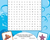 Printable Finding Nemo themed Baby Shower Word Search