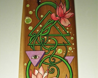 Organic Alchemy - Wood Panel Art Design