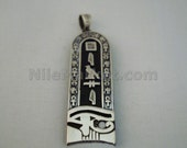 Egyptian Personalized Sterling Silver Eye Of Horus Cartouche Charm
