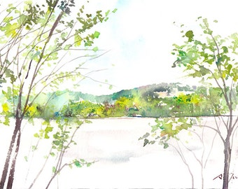 Camping Trip No.1, limited edition of 50 fine art giclee prints from my original watercolor