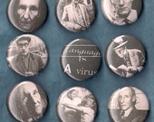 WILLIAM S BURROUGHS Set of Pins Buttons Badges naked lunch cult author beat