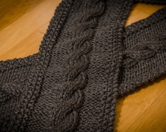 Gray Hand Knit Scarf