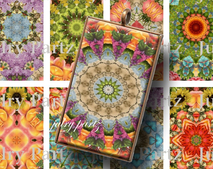 AUGUST GARDEN 1x2 Tiles, Printable Digital Images, Cards, Gift Tags, Scrabble Tiles, Magnets