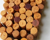 Autumn Yellow Used Wine Corks - DIY crafting supply, Fall yellow / orange