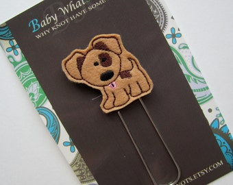 Extra LARGE Paperclip Bookmark, Puppy Dog Bookmark, Felt Bookmark, Paperclips, Jumbo Paper Clip, Filofax, Planner Clips, Calendar, bmpuppy42