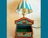 Jewelry Box Nightlight Lamp with Hand Painted Shade
