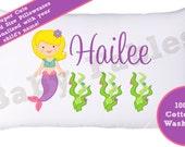 Mermaid Pillow case Mermaid Under the Sea Blonde Mermaid Brunette Mermaid Red Haired mermaid Black Hair Mermaid Child's Pillowcase