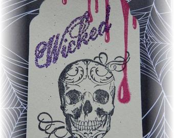 Halloween - Skull- Wicked- Gift/ HangTags (8)