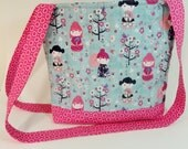 Clearance Sale Childrens Messenger Bag Girls Tote Bag Geisha Fabric Diaper Bag Shoulder Bag Pink Purse Quilted Tote