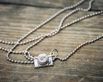 Camera Bling Extra Long Charm Necklace