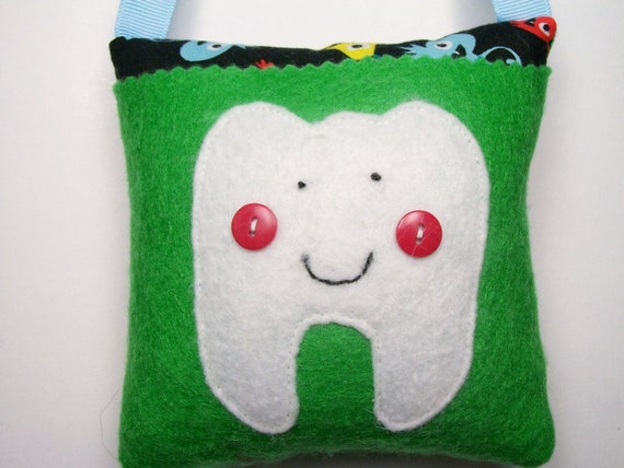 Tooth Fairy Pillow Boys Funny Monsters Tooth Pillow