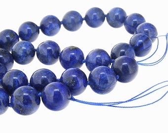 Blue Lapis Gemstone Beads 12mm 10mm 8mm Knotted Lapis Beads One Full Strand , fashion gemstone bead, Charm Lapis beads. fit your jewelry