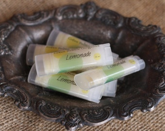 Natural Lip Butter, Lemonade Flavor-Extra Healing/Moisturizing Lip Balm, by greenbubblegorgeous on etsy