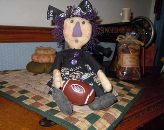 Primitive Baltimore Ravens Doll