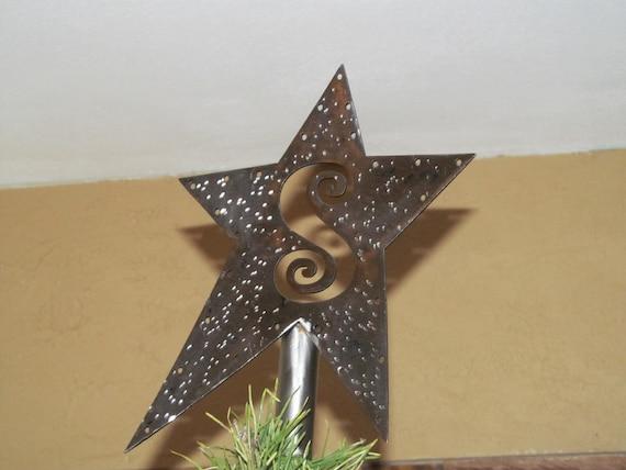 Personalized Primitive Metal Star Topper