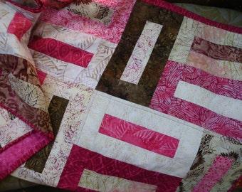 Batik buttonhole quilt