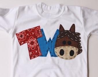 barnyard birthday shirt, two, horse, 2nd,  t shirt, barn yard, farm theme, boy