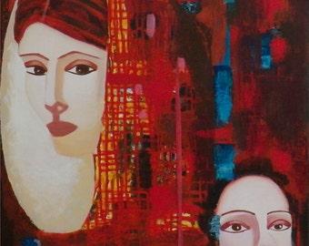 semi abstract portraits