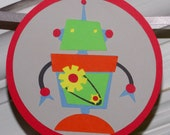Robot Birthday Party Banner READY To SHiP Gear Up Birthday Bash Happy Birthday Sign Red Yellow Blue Green Grey SAVE 50 % CLEARANCE