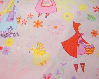 Michael Miller Fairy Tale Fabric,OOP Fabric, Cinderella Red Riding Hood Fabric