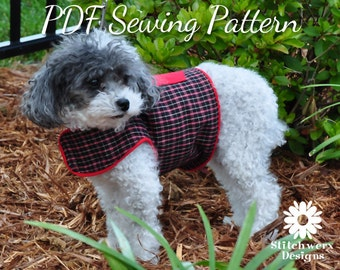 DOG CLOTHES SEWING Pattern, Small Dog Harness Pattern, Harness Pdf Pattern, Instant Download Pdf Sewing Pattern, 6 sizes included