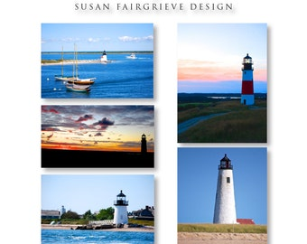 Nantucket, MA Lighthouse Series Card Set by The Coastal Collection