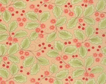 Mimi - Leaves in Coral by Chez Moi for Moda Fabrics - Last Yard
