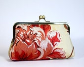 Gold Silk Clutch with Red Flower, Last Clutch