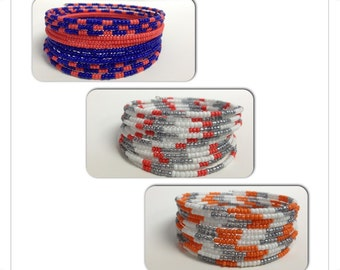 Stacking Memory Wire 12 wrap Bracelet Choice of Color