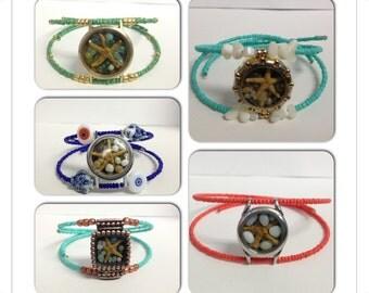 Starfish Beach Memory Wire Bracelet