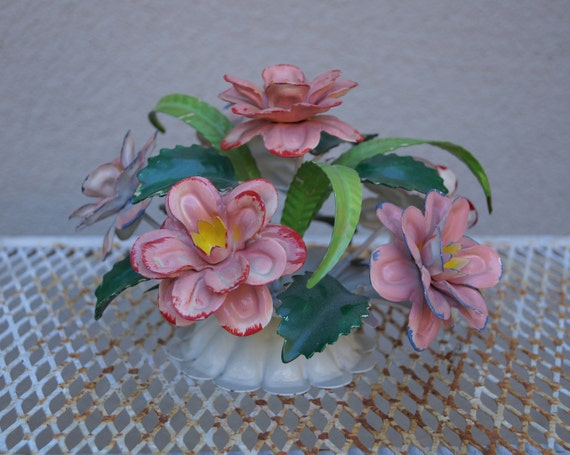 Tole Italy  City pictures : Vintage Italian Tole Flower Bouquet by UnnecessaryNecessity
