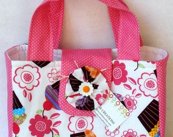Mini Tote Bag For Her- Cupcake Meadley