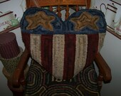 Primitive Rug Hooking Americana Folk Heart Pillow Pattern OFG FAAP