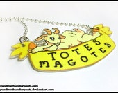 Totes Magotes Necklace, Goat, Goat Necklace, Cute Animal Jewelry