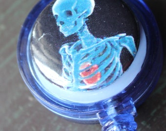 Halloween Sugar Skull Badge Holder Retractable Badge Holder
