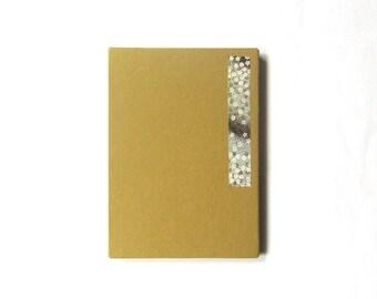 6x4 accordion photo album, journal - mustard yellow