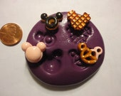 Sale-kawaii flexible silicone mold for mini mouse snack cabochons  79---USA seller
