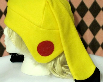 Yellow Electric Type Fleece Hat - MADE TO ORDER