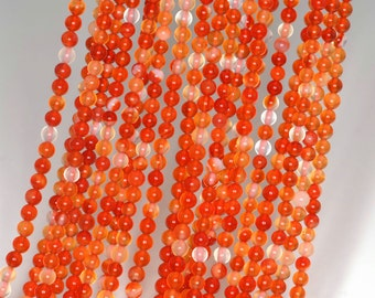 "2mm Carnelian Red Agate Round beads full strand 16"" Loose Beads P142707"
