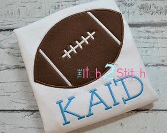 "Football Applique Design Sizes 4x4, 5x7 and 6x10 For Machine Embroidery, Shown with our ""Remington"" Font NOT Included INSTANT DOWNLOAD"
