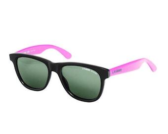 L.A. GEAR Black / Purple Wayfarer Vintage Sunglasses - LA Gear Aerobics - 80's Hipster Sunglasses