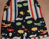 Plane shorts, size 1T, 6-18months, multi-colour, black, READY TO SHIP