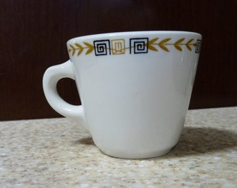 Vintage Shenango heavy diner cup Esquire pattern